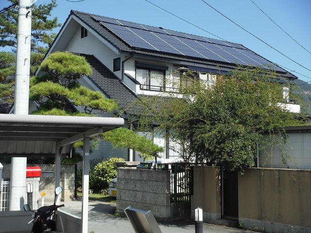 太陽光パネル設置事例施工後4